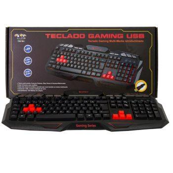Teclado Gamer USB Multimidia BraView TCO-801 USB Vermelho