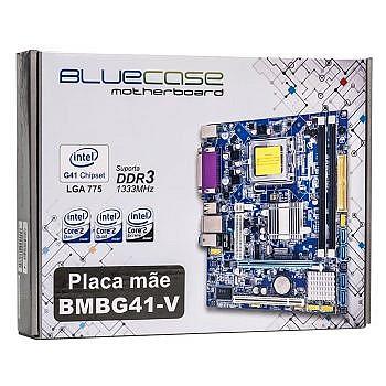 Placa Mae 775 Bluecase Bmbg41-v Ddr3 1333 G41